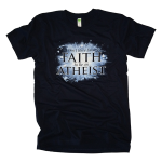 Faith To Be An Atheist tee shirt [navy]