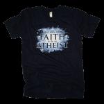 Faith To Be An Atheist tee shirt [navy]