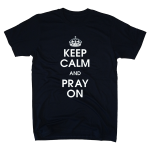 Keep Calm Pray On [navy]