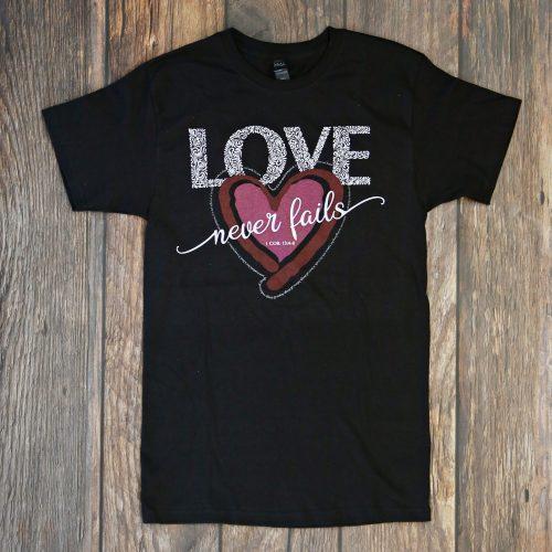Love Never Fails Christian T-Shirt by SonTeez