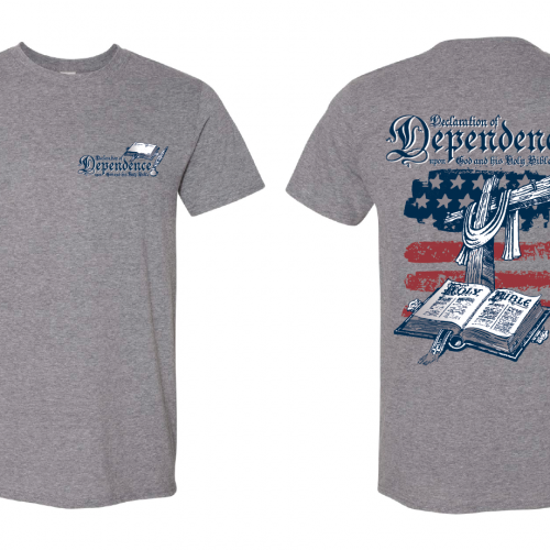 declaration of dependence t-shirt
